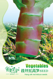 Wholesale original package Rare Red Stem Asparagus Lettuce Seeds Rare Chinese Vegetable Seeds bags per