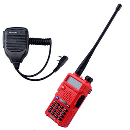Wholesale BaoFeng Walkie Talkie UV R Transceiver baofeng uv r VHF UHF Dual Band MHz Two Way Radio and X Speaker Mic