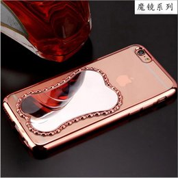 Wholesale New Cosmetic Magic Mirror Electroplate Transparent Soft TPU Full Cover Case For Apple iPhone SE S S Plus quot quot Free DHL MOQ