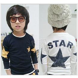 2016 Autumn Spring Children Clothes Long Sleeve Star Boys T-Shirts Cotton Tees Shirts Kids Bottoming Shirts Hot Sale 20pcs lot