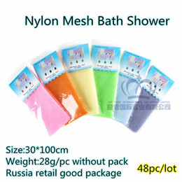 Wholesale TOP FAITH beauty skin cloth wash cloth nylon bath towel shower japanese body towel sauna russia retail pack cm