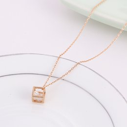 Wholesale Square Rope - 2016 Square collarbone chain necklace female ornaments joker contracted