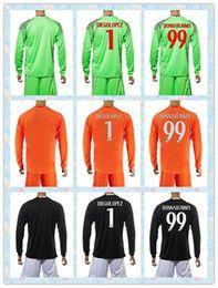 Wholesale New Product Uniforms Kit AC Milan Soccer Jersey DONNARUMMA DIEGOLOPEZ Green Black Orange Long Sleeve Goalkeeper Jerseys