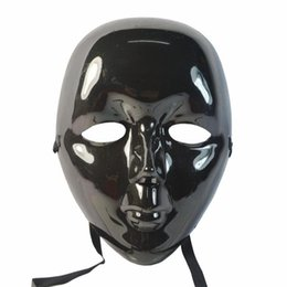 Wholesale Halloween Mask Masquerade for Adult Fashion Beauty Pure Black Full Face Masquerade Little Beauty Mask Cosplay Make up Party Ball Dance Mask