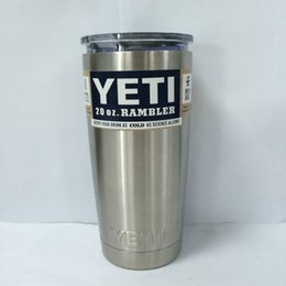 Wholesale 304 Stainless Steel oz oz Yeti Cups Cooler YETI Rambler Tumbler Cup Vehicle Beer Mug Double Wall Bilayer Vacuum Insulated ml hot