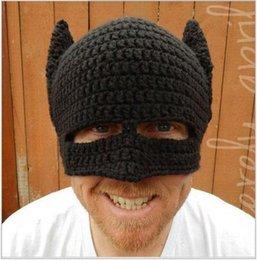 Mens volets casquettes d'hiver de l'oreille à vendre-Grossiste-Cool hiver Bat Hommes Cable Crochet Beanie Snow Ski Cap avec oreille Flap chaude CH-56