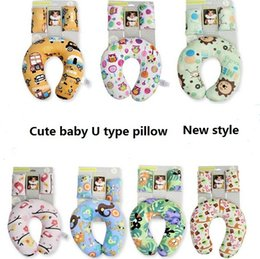 Wholesale Baby pillows U shape Neck protection pllow Cars automobile seat travel pillows PP Soft Cartoon cute Maternity supplies Originality