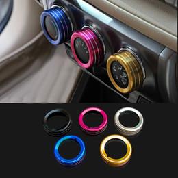 2016 New Car Styling Chromium 3PCS SET Air Conditioning Heat Control Switch knob AC Knob Case For Toyota YARiS HXY0155