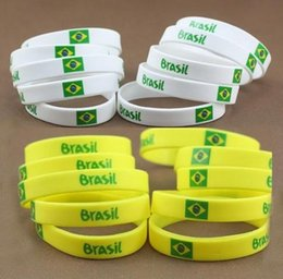Wholesale Best Price Brazil World Cup Football Sports Souvenir Bracelet Silicone Silicon Gel Wristband Bracelets S044