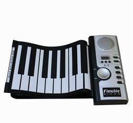 61 teclas portable ruede para arriba electrónicos teclados de piano / órgano de silicona pantalla LCD de puerto MIDI a prueba de agua plegables de piano suave al por mayor de la fábrica desde enrollar 61 teclas fabricantes