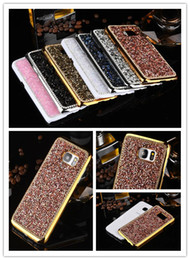 Newest Items Jelly Diamond Hard Back Cover Case For iPhone 5 5S SE 6s Plus For Samsung Galaxy S7 Edge S6 Edge Plus
