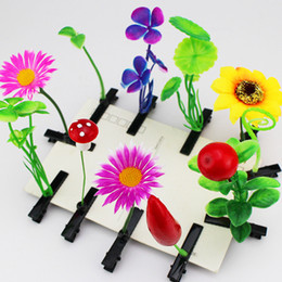 Wholesale Newest Lovely Novelty Plants grass hair clips headwear Small bud antenna hairpins Lucky grass bean sprout mushroom party hair pin