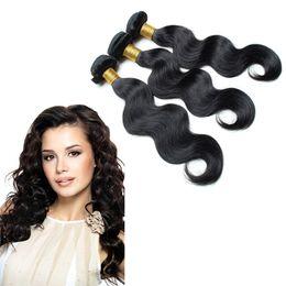 Promotion peut teindre remy extensions de cheveux cheveux humains brésilienne 3pcs Body Weave Vague Cheap Cheveux ondulés Bundles / lot peuvent être teints et blanchies remy extensions de cheveux humains u-tip