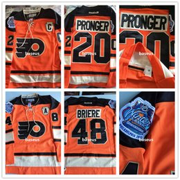 Wholesale Philadelphia Flyers Hockey Jerseys Men Chris Pronger Winter Classic Embroidery C Patch Logos Danny Briere Winter Classic E