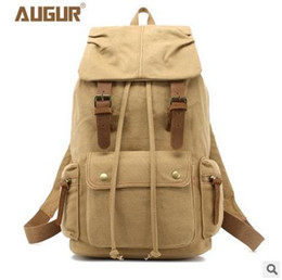 Wholesale 2016 Hot Sale Rushed Canvas Bag Fashion Casual Backpack Computer Outdoor Travel Bag Adjustable Shoulder Strap High Quality Metal Buckle