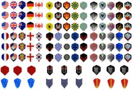 Wholesale 360 New Dart Flights in Kinds of Nice Patterns Darts set Dart Flight