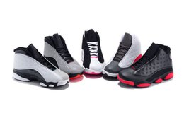 Wholesale Top quality Basketball Shoes Children Athletic Shoes Boys Girls Cute Kids Leather Babys Sport Sneakers Cheap Trainers retro XIII