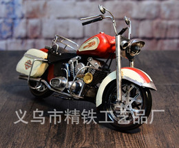 Wholesale Vintage Handmade Craft Retro creative display and display of the motorcycle model of the window stage props bar style decorative arts and cr
