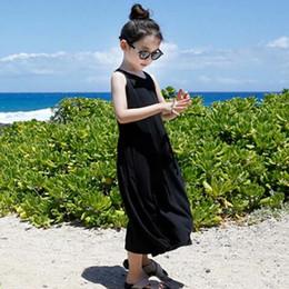 Wholesale Solid Maxi Dresses Wholesale - Girl Dress Beach Dresses Child Clothes Kids Clothing 2016 Long Dress Summer Princess Dresses Kid Girls Maxi Dress Children Wear Ciao C25018