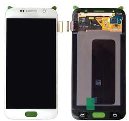 Скидка синяя панель ЖК-стекло с гибким дисплеем LCD сенсорная панель с сенсорным экраном дигитайзер Белый Голубой Золотой цвет галактики Samsung s6 G920 универсальный