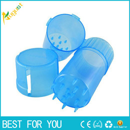 Wholesale Bottle Shape Plastic Grinder Water Tight Air Tight Medical Grade Plastic Smell Proof Tobacco Herb plastic case layers Grinder mm