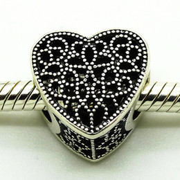 Heat 2016 Filled With Romance Heart 100% 925 Sterling Silver Bead Fit Pandora Bracelet Fashion Jewelry DIY Charm Brand