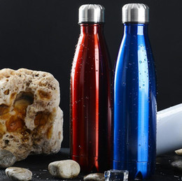 Wholesale Stainless Steel Water Bottle Cola Shaped Insulated Double Wall Vacuum Creative Thermos bottle Vaccum Insulated Cups LJJG372