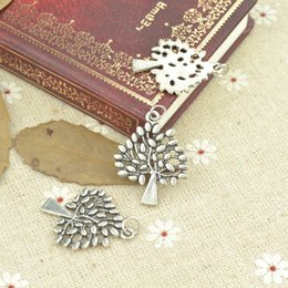 wholesale 65pcs Vintage silver tree of life charms metal pendants for diy necklace & bracelets jewelry accessories 30*24mm 21120
