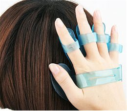 Wholesale Hair Care Shampoo Scalp Head Massage Massager Silicone Brush Comb Glove Relax New Low Price jy440