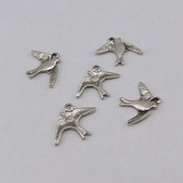 5PCS Antiqued Silver Zinc Alloy Flying Bird Charms Pendants DIY Jewelry Making AU01468 jewelry making