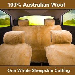 Wholesale Sheepskin Car Cushion - 2016 Winter Newest Full Set Luxury Car Cushions Seat Covers 100% Australian Pure Wool Sheepskin Universal For All Cars