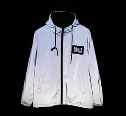 Wholesale 3m reflective jacket men women pigalle windbreaker jackets jaqueta masculina hip hop windbreakers ultra light m jacket