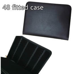 Wholesale FOUNTAIN OR ROLLER BALL PEN CASE NEW ANTIQUE BLACK NEW AND IMPROVED PVC ZIPPER