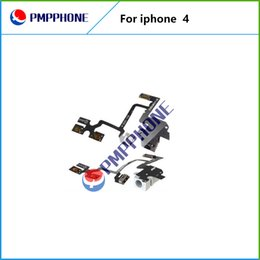 Wholesale Good Quality For iPhone G Headphone Audio Jack Power Volume Switch Flex Cable Replacement Fast shipping