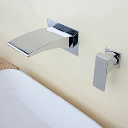 Wholesale Excellent Quality Wall Mount Wide Bathtub Mixer Tap Mono Curved Waterfall Bath Spout Filler Faucet The Best Price