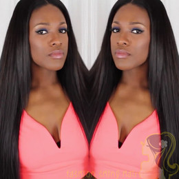 Indian Human Hair Wigs Silk Straight Hair Lace Front Wig Middle Parting Straight Glueless Full Lace Wig With Baby Hair