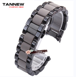 Wholesale Baotou plastic watch band mm mm stainless steel strap black male Original applies AR1451 AR1452