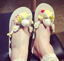Wholesale Fashion Women Summer Travel Beach Flip Flops Slippers Sandals Garden Banana Flower Brand Designer Home Non Slip Shoes Free Ship DHL S1091