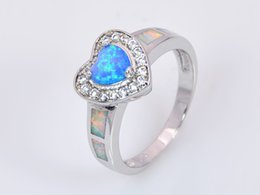 Wholesale & Retail Fashion Fine Blue Fire Opal Ring 925 Silver Plated Jewelry For Women RMT1516002