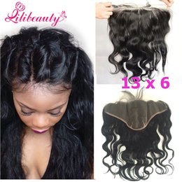 Wholesale 13x6 Lace Frontal Closure with Baby Hair Indian Virgin Hair Body Wave Human Hair Lace Closure Ear to Ear Swiss Lace Closure