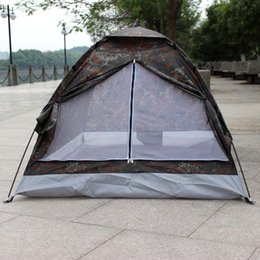 Wholesale Camping Tent for Person Single Layer Waterproof Outdoor Portable Camouflage H11111