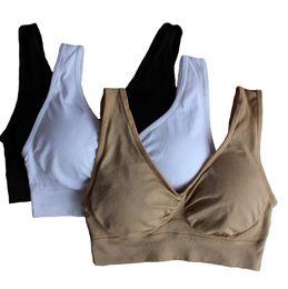 ahh bra with removable bra pads two layer Genie Bra women sport bra seamless sport bra women push up free shipping in stock