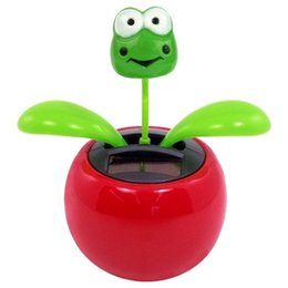Wholesale Solar Toy Dancing Flower Frog Great as Gift or Decoration Ship in Random Color