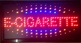 Wholesale 2016 Direct selling led e cigarette shop neon sign custom graphics semi outdoor flashing X19 inch e cigarette store sign of led