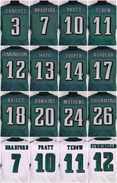 Wholesale 2016 Philadelphia football jersey Eagles Soccer rugby jerseys Dawkins Ertz Jenkins Black Green White freeshipping