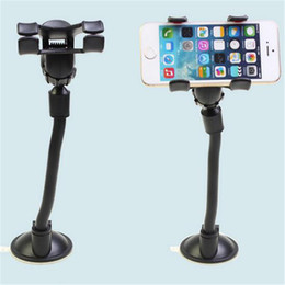 Wholesale Navigation Chuck Bracket Car Holders for Mobile Black Light Weight Car Holders with Colorful Box Packing