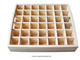 Wholesale Customizable Essential Oil Wooden Tray 42 holes 5ml - 10ml bottles handmade Multifunction partition Natural pine wood F007022