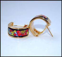 Monet Poppy Series Hoop earring 18K gold-plated enamel earrings for woman Top quality hoop earrings designer jewelry