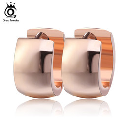 Rose Gold   Gold Silver Earring Mount High Quality Stainless Steel Classic Hoop Earring Nice Fashion Accessories GTE18