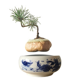 Wholesale Small Pot For Flowers - 2016 Japan High Tech Gadgets Magnetic Levitation Floating Flowers Ceramic Pots for Plants Small Plant Pot Best Gifts for Men (No Plant) G-10